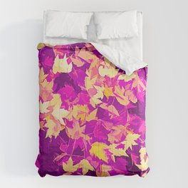 Autumn Leaves (pink & yellow) Comforters