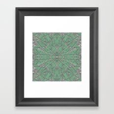 Snowflake Mint Framed Art Print