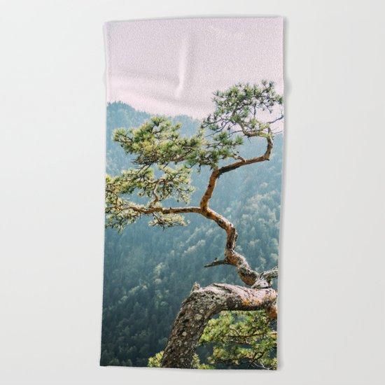 Sokolica Mountain Pine Tree Beach Towel