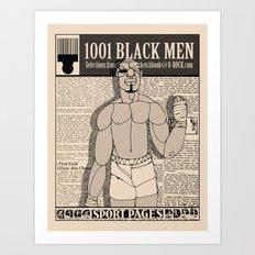 1001 Black Men: The Sport Pages Art Print