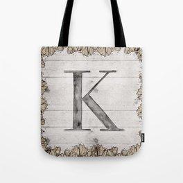 Neutral Monogram K Tote Bag