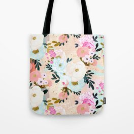 Florence Painterly Floral Tote Bag