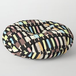 candy popsicles black Floor Pillow