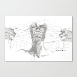 STRUGGLE Canvas Print