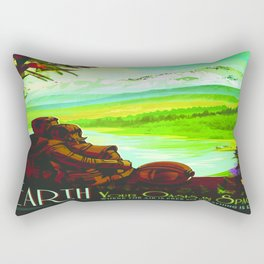 Vintage poster - Earth Rectangular Pillow