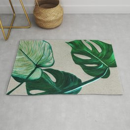 monsteras - coloured pencils Rug