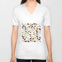 shoes V-neck T-shirts featuring Shoes by Jeanne Bornet