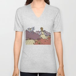 The Magic Swan Geese Unisex V-Neck