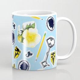 Blue ChaRActer Collage Coffee Mug