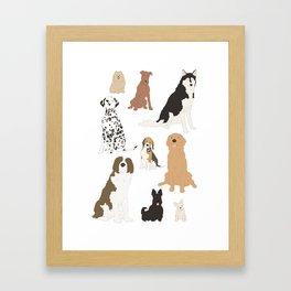 All Kinds of Dogs Framed Art Print
