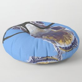 Donkey With Glasses Art, Blue Donkey Floor Pillow