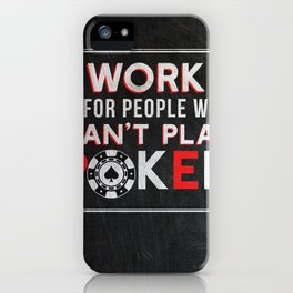 Funny Poker Design iPhone Case
