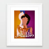 aladdin Framed Art Prints featuring Aladdin by hayley phoenix