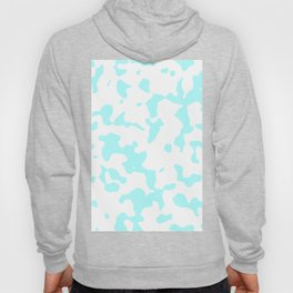 Large Spots - White and Celeste Cyan Hoody