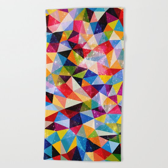 Space Shapes Beach Towel