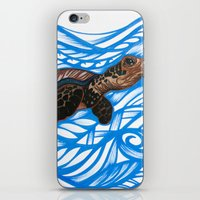 turtle iPhone & iPod Skins featuring Turtle by Lonica Photography & Poly Designs
