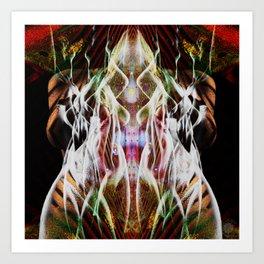 Sagg-Unicorn  abstract art Art Print