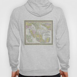 Vintage Map of Mexico (1850) Hoody