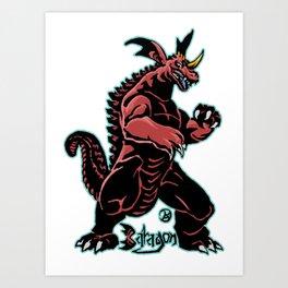 Baragon Kaiju Print FC Art Print