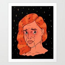 Stars die when girls cry Art Print