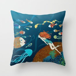 Fish conference Throw Pillow