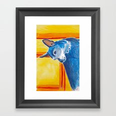 toothy dog Framed Art Print