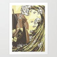 vikings Art Prints featuring Vikings by Josue Noguera