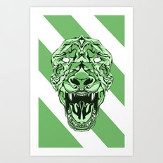Lion Stripes  Art Print