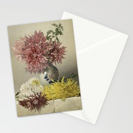 Chrysanthemum and Vase Stationery Cards