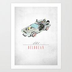 The Delorean Art Print
