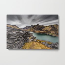 Snowdon Moutain Range Metal Print