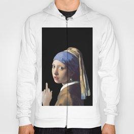 Girl With a Pearl Earring being Badass - Johannes Vermeer Hoody