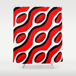 Chains Patterns - Red Shower Curtain