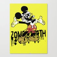fallout 3 Canvas Prints featuring Fallout by Iamzombieteeth Clothing