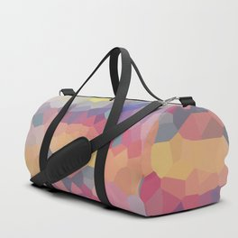 Pastel Geometric Moon Rise Duffle Bag
