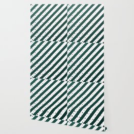 Stripes and dots (Green) Wallpaper