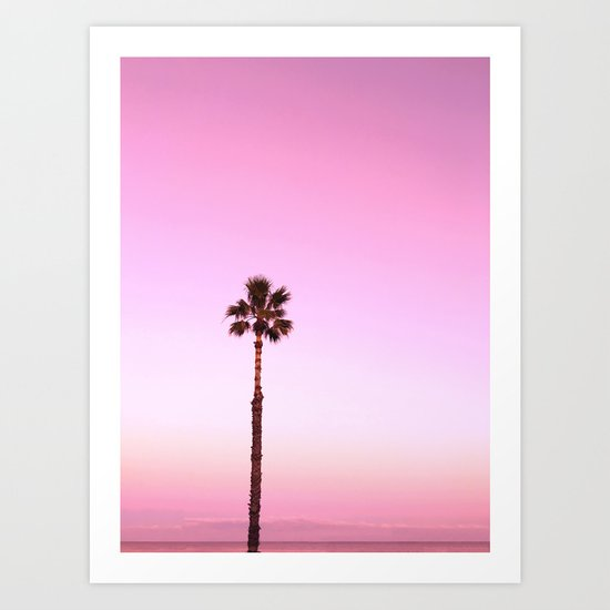 Stand out - twilight pink Art Print