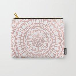 Rose Gold Boho Mandala Carry-All Pouch