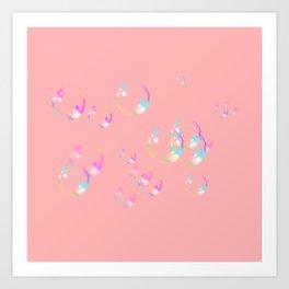 Bubbles & Bubblegum Pink Art Print