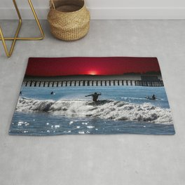 CLOSE OUT RED SUNSET Rug