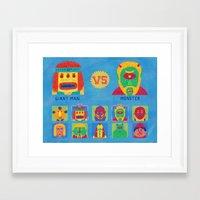 foo fighters Framed Art Prints featuring Fantastic Fighters by murat kalkavan