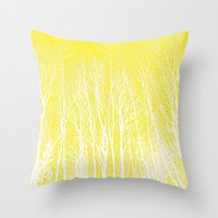 woodland Throw Pillows featuring woodland by  Agostino Lo Coco