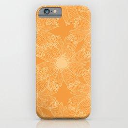 Calliopsis Flower Pattern iPhone Case