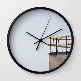 Scaffolding. Wall Clock