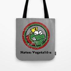 Hates: Vegetables (Battle Damage) Tote Bag