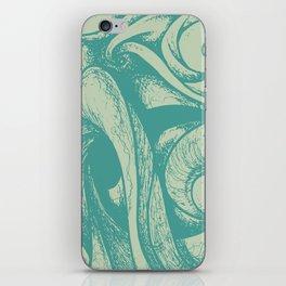 swirl (green and tan) iPhone Skin