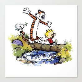 calvin and hobbes 03 [TW] Canvas Print