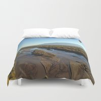 ariana grande Duvet Covers featuring Rio Grande by Isaak_Rodriguez