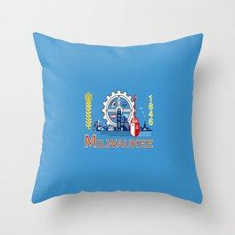 flag of Milwaukee Throw Pillow