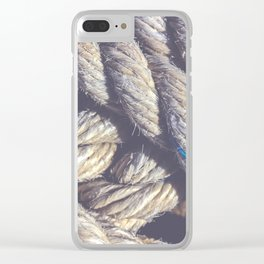 Crossing sling rope Clear iPhone Case